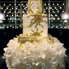 Glam Square Wedding Cake