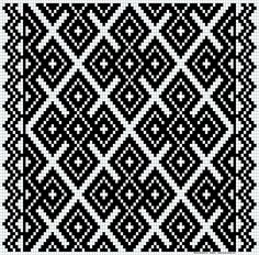 Kvarder i smøyg – Vevstua Bull-Sveen Afghan Crochet Patterns, Weaving Patterns, Mosaic Patterns, Craft Patterns, Crochet Diagram, Crochet Chart, Hardanger Embroidery, Embroidery Patterns, Cross Stitch Designs