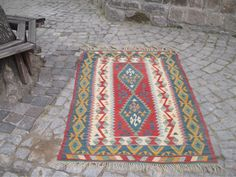 "50 % OFF! TURKISH KILIM RUG, 173x 110 cm ( 68 "" x 43 "" )"