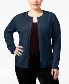 Karen Scott Plus Size Cardigan, Only at Macy's