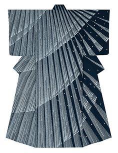 """Splashing sound of waterfall"", yuzen kimono by Osao Futatsuka Traditional Japanese Kimono, Traditional Dresses, Traditional Art, Japanese Textiles, Japanese Patterns, Modern Kimono, Kimono Japan, Japan Outfit, Kimono Design"