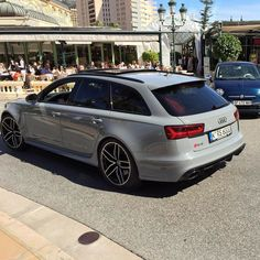 Monaco lifestyle can be grey sometimes #Nardogray #AudiRS6 in #Montecarlo oooo…