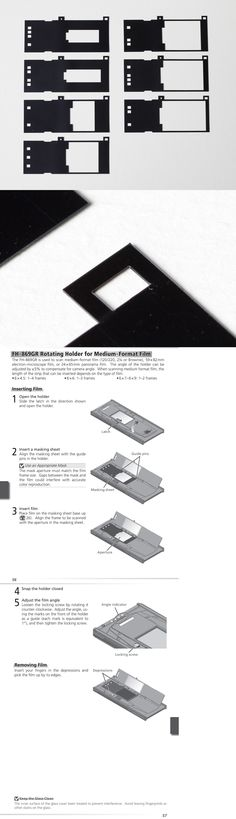 Replacement Mask Set for Nikon FH-869G Glass Film Holder for 8000 9000 scanner