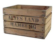Einzelne Stabile Obstkiste Gebraucht Aufdruck Altes Land Hamburg Optimal Fur Regalbau Mobelbau