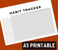 PRINTABLE Bullet Journal habitude Tracker - A5