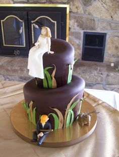 Deer Hunting Grooms Cake - thought of Lauryn and Chris when I saw this.