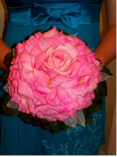 Bridal Pink Glamelia Bouquet by justweddingbouquets on Etsy, $99.99