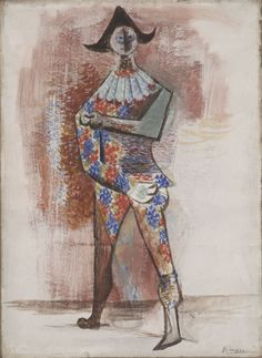 Pablo Picasso (1881-1973) Harlequin, 1917 Gouache on paper on board 648 x 483 mm Anonymous loan, 10.2002 Chicago Art Institute
