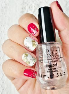 Roses stickers Essie - Blanc Bourjois - Fashion Show à New York n°92 Sephora - Gold Fever Stickers Roses from Born Pretty Store (don't forget the discount code : STCX31 10% off)