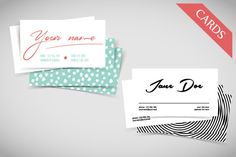 Business cards by sonne.on on Creative Market
