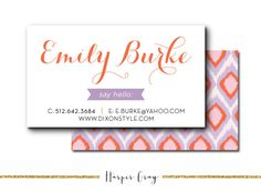 Ikat Business Cards via Etsy.