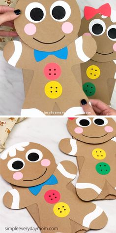 Preschool Christmas Crafts, Christmas Art Projects, Christmas Crafts For Kids To Make, Classroom Crafts, Christmas Ideas, Gingerbread Man Crafts, Toddler Crafts, Children Crafts, Crafts For Babies