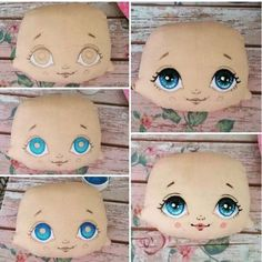 58 ideas doll eyes artists for 2019 Doll Face Paint, Doll Painting, Doll Crafts, Diy Doll, Doll Eyes, Sewing Dolls, Doll Tutorial, Doll Repaint, Fairy Dolls