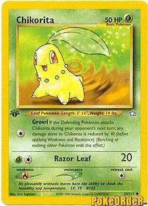 Pokemon Neo Genesis Card 54 - Chikorita Card $0.99-$4.00