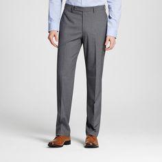 Men's Slim Fit Textured Suit Pants Grey 42X32 - City of London, Gray