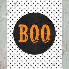 Boo Halloween Printable | 8x10 | Halloween Decor by olliewolliecreations on Etsy