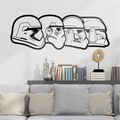 Stickers muraux: évolution Stormtroopers. Vinyle décoratif Star Wars. #starwars #vinyle #mur #decoration #deco #WebStickersMuraux