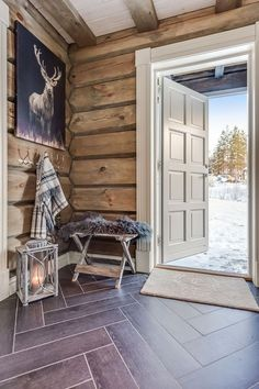 57 Cottage Interior Trending Now - Home Decoration - Interior Design Ideas Log Home Decorating, Interior Decorating Styles, Home Decor Trends, Interior Design Boards, Decor Interior Design, Cabin Homes, Log Homes, European Home Decor, Cottage Interiors