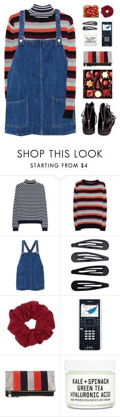 """layering stripes"" by amazing-abby ❤ liked on Polyvore featuring 360 Sweater, The Elder Statesman, MANGO, Helmut Lang, Accessorize, Clare V. and Youth To The People"