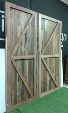 Custom Reclaimed Timber Internal Barn Doors Recycled Timber Rustic | eBay