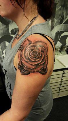 #rose #roses #rosetattoo  #tattoo #blackandgrey #blackandwhite #realistic @risingbastards