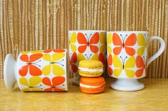 popular style and color of 1970s coffee cups...wow, I actually remember these, makes me feel old...lol..
