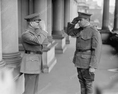 Commander Pershing Saluting Babe Ruth 1925 Vintage 8x10 Reprint Of Old Photo