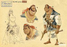 concept work for Aardman's Pirates
