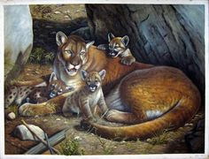 """36"""" by 48"""" - Animal - Nr.005 - Lion - Museum Quality Oil Painting on Canvas Art by Artseasy on Etsy"""