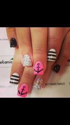 Stripes and Anchor Nails