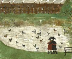 Gary Bunt | Down by The Pond Down by the pond In Hampstead Heath Two lovers in wellington boots They come down here most Sundays To see the ducks the swans and coots