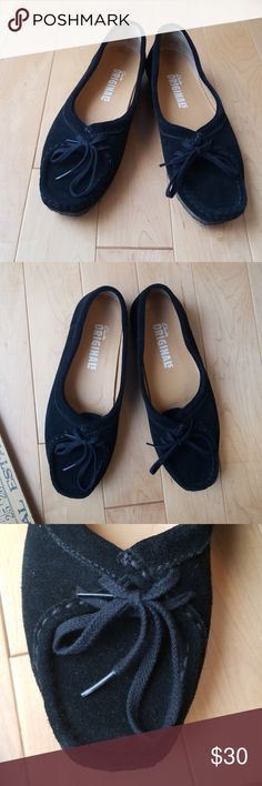 3afc1a52a Clark s originals black suede moccasins size 8 EUC Clark s Originals black  suede moccasins with a little