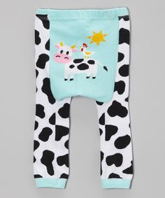 Another great find on #zulily! Aqua Cow Leggings - Infant by Doodle Pants #zulilyfinds