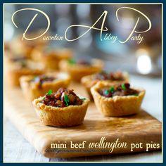 mini-beef-wellington-pot-pies | Downton Abbey Party #appetizer @Katie Webster #DowntonBlogParty