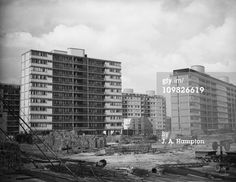 Work in progress on the Churchill Gardens Estate in Pimlico, south-west London, April On the left is Sheraton House and on the right, Chippendale House. Get premium, high resolution news photos at Getty Images Old London, West London, Council Estate, Social Housing, London House, Photo Work, Churchill, The Hamptons, Skyscraper