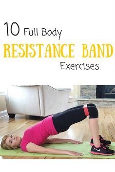 I love using loop bands because I can workout anywhere! These are some awesome full body exercises!