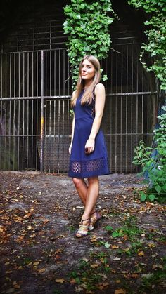 Style Trunk: French Connection lace dress