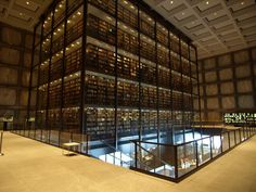 Beinecke Rare Book and Manuscript Library, by Gordon Bunshaft of SOM / Yale University, Connecticut