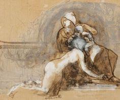 Auguste Rodin - étude pour la porte de l'Enfer,...