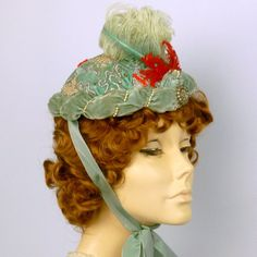 Repoduction 1891 Victorian Bonnet Hat in by NouveauHatsbySharon