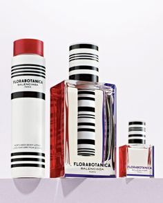 Striped: Balenciaga 'Florabotanica' holiday set.