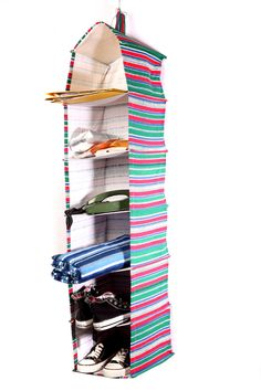 Multi Colored Stripes Storage Organizer    Pile up your office utilities or living room needs with this All-Purpose Organizer. Be it organizing files, reports, stationary or handbags, clutches, accessories, this organizer is all you need for a hassle free lifestyle. You not only save on space, time and effort but also on big bucks.