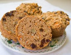 Sugar-Free, Vegan Carrot Muffins - Just like carrot cake, only more hearty and less sweet