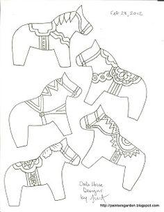 Paintersgarden: New Dala Horse Designs