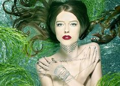 The winner of America's Next Top Model, Ann Ward, in one of the show's many photo shoots