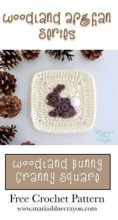 Woodland Bunny Granny Square   Woodland Afghan Series   Free Crochet Pattern