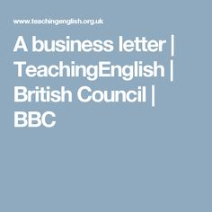 A business letter | TeachingEnglish | British Council | BBC