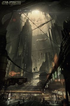 """Street View"" // Star Wars 1313, Game Concept Art (game cancelled after Disney's purchase of SW Property)"