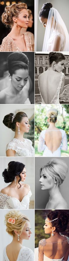 21 Bridal Updos that Define Elegance! You will find different rumors about the real history of the marriage dress; Prom Hair Updo Elegant, Bridal Hair Updo, Elegant Updo, Bridal Hair And Makeup, Wedding Updo, Classy Hairstyles, Work Hairstyles, Bride Hairstyles, Bridal Looks