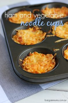 If you have a couple of packets of 2 minute noodles in the cupboard you have a meal, these tasty yet budget friendly Ham and Vegetable Noodle Cups. Healthy Vegetable Recipes, Snack Recipes, Cooking Recipes, Budget Recipes, Fall Recipes, Savory Breakfast, Breakfast Lunch Dinner, Breakfast Muffins, Breakfast Casserole